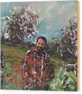 Dror And The Almond Trees Wood Print