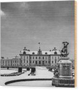 Drottningholm Castle Winter Wood Print