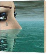 Drowning In A Sea Of Tears Wood Print