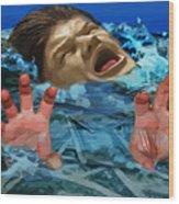 Drowning In Wealth Wood Print