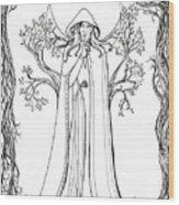 Druid Woman Shush Wood Print
