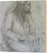 Drum Player Wood Print