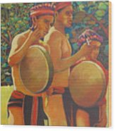 Drumbeat Of The Kalinago Wood Print