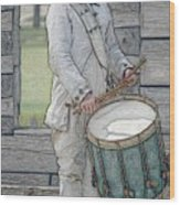 Drummer Boy Wood Print