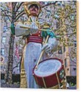 Drummer Boy  In Rockefeller Center Wood Print