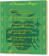 Drummers Prayer_2 Wood Print by Joe Greenidge