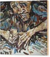 Drunk Inspired By Egon Schiele Wood Print