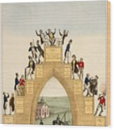 Drunkards Progress, 1846 Wood Print