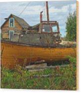 Dry Dock Wood Print