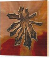 Dry Leaf Collection Digital 1 Wood Print