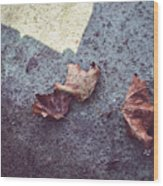 Dry Leaves Wood Print