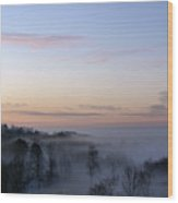 Dry Ridge Morning Wood Print