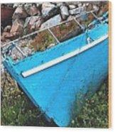 Drydock Boat Wood Print