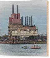 Dte Power Plant  Wood Print