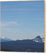 Dual Mountains Wood Print