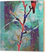 Dual Roses Wood Print