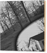 Duality - A Black And White Photograph Symbolically Representing The Gravity Of Choice  Wood Print