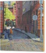 Duane Park From Staple Street Wood Print