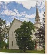 Duanesburg, Ny, Church Wood Print