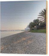 Dubai Beach Sunset Wood Print