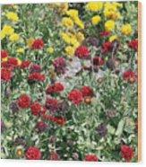 Dubai Flowers Wood Print