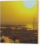 Dubai Marina Jumeirah Sunset Wood Print