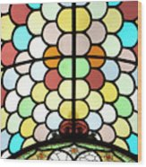 Dublin Art Deco Stained Glass Wood Print