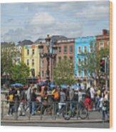Dublin Day Wood Print