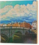 Dublin's Fairytales Around  River Liffey V4 Wood Print