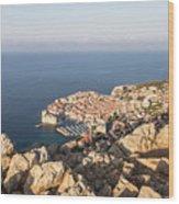 Dubrovnik And The Adriatic Coast In Croatia Wood Print
