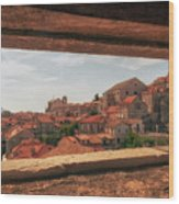 Dubrovnik City In Southern Croatia Wood Print