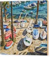 Dubrovnik Croatia - Sea Of Boats Wood Print