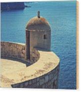 Dubrovnik Fortress Wall Tower Wood Print