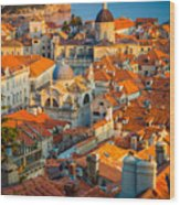 Dubrovnik Sunset Wood Print