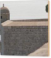 Dubrovnik The Wall Wood Print