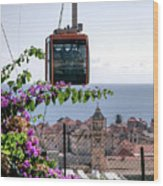 Dubrovniks Cable Car Wood Print