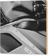 Ducati 1098 Motorcycle -0893bw Wood Print