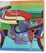 Ducati 750 Ss Corsa Wood Print