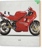 Ducati 888 Wood Print