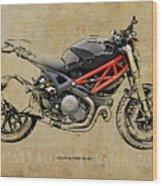 Ducati Monster 796 2013 Wood Print