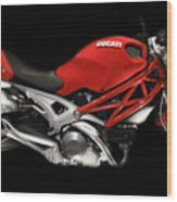 Ducati Monster In Red Wood Print