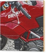 Ducati Red Wood Print by Diane E Berry