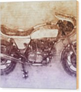 Ducati Supersport 2 - Sports Bike - 1975 - Motorcycle Poster - Automotive Art Wood Print