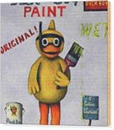 Duck Boy Wood Print