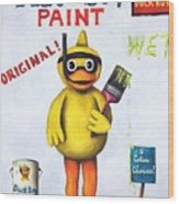 Duck Boy Paint Wood Print by Leah Saulnier The Painting Maniac