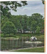 Duck House Deering Oaks Park Portland Maine Wood Print