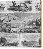 Duck Hunting, 1868 Wood Print