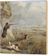 Duck Shooting  Wood Print