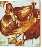 Duck Study Wood Print