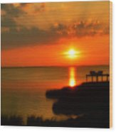 Duck Sunset Outer Banks North Carolina Wood Print